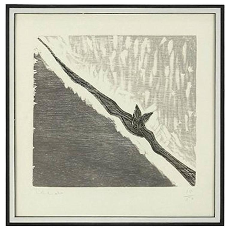 Etching of a Bat by Francisco Toledo Signed and Numbered