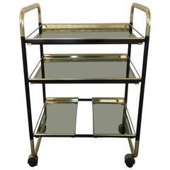 1960s Italian Barcart with Interchangeable Shelves