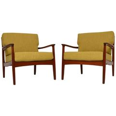 Pair of Danish Retro Teak Armchairs Vintage, 1960s