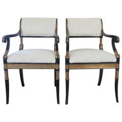Pair of 19th Century Italian Regency Chairs