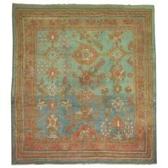 Antique Oushak Square Rug