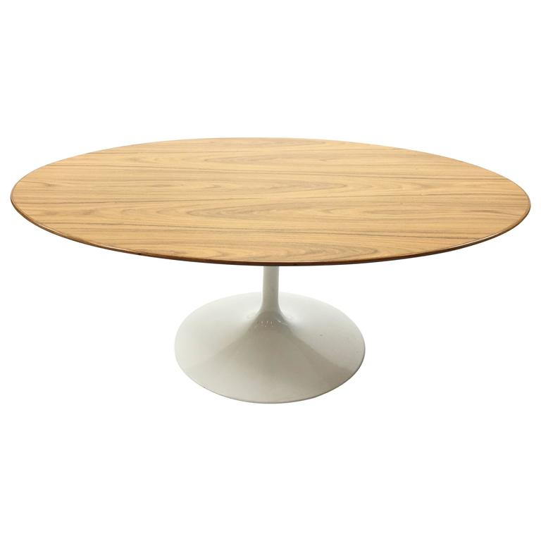 Eero Saarinen Rosewood Tulip Cocktail Table For Knoll For Sale At 1stdibs