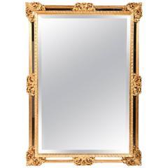 Vintage Ornately Carved Giltwood Frame Wall Mirror