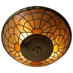 Brass Flush Mount or Wall Sconce