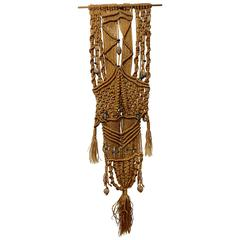 1960s Hippie Wall Hanging Macrame