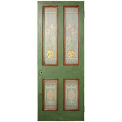 Hand-Painted Arts and Crafts Period Pine Door