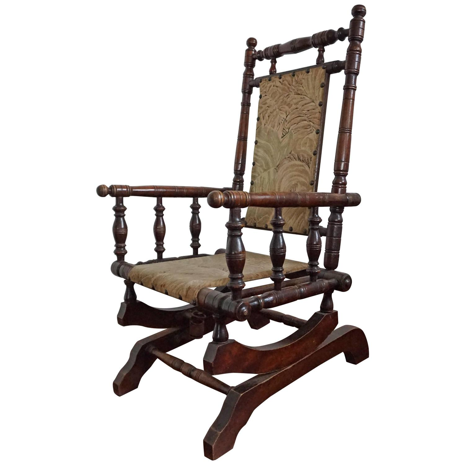 Rare Antique Rocking Chair for Children American Rocker for Child or Toy  Bear For Sale at 1stdibs - Rare Antique Rocking Chair For Children American Rocker For Child Or