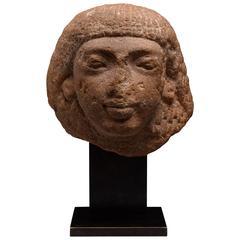 Ancient Egyptian Quartzite Head, 1320 BC