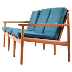 Grete Jalk Three-Seat Sofa in Teak
