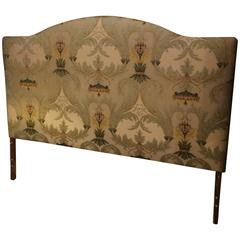 Handsome King Size Bed Upholstered Headboard