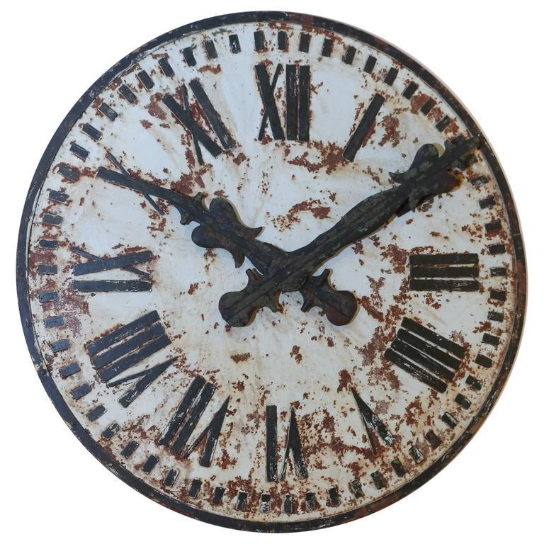 Large Metal Clock Face At 1stdibs