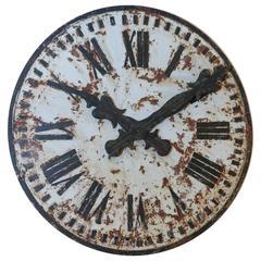 Large Metal Clock Face