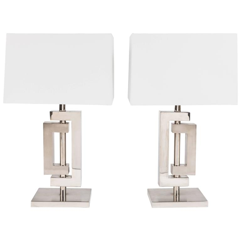 "Pair of ""Art Deco"" Style Table Lamps"