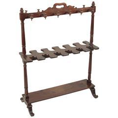 Mid-19th Century Mahogany Boot Rack
