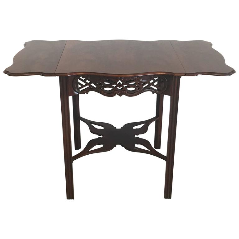 baker furniture historic charleston dining table room collection mahogany drop leaf round pedestal