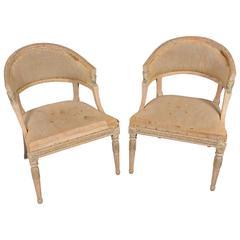 Swedish Gustavian Barrel Back Chairs