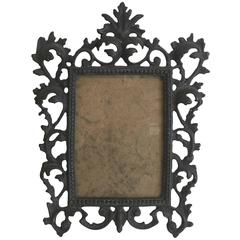 19th Century Art Nouveau Bronze Standing Picture Frame