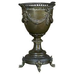 19th Century Louis XVI Bronze and Brass Coupe or Jardinière