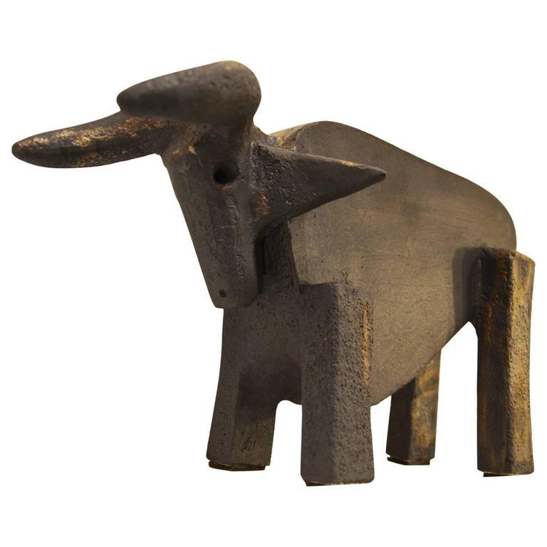 Dominique Pouchain Taurus Ceramic Sculpture At 1stdibs