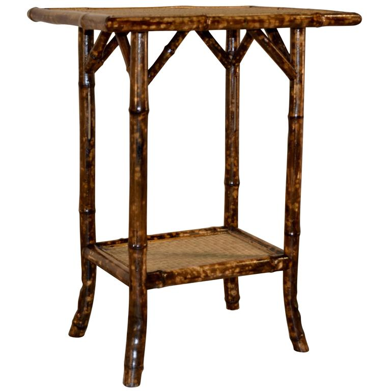 Bamboo Tortoise Coffee Table: 19th Century French Tortoise Bamboo Side Table At 1stdibs