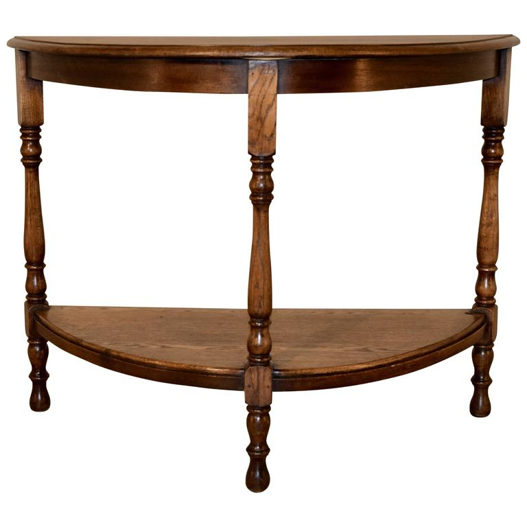 19th century english demi lune table for sale at 1stdibs. Black Bedroom Furniture Sets. Home Design Ideas