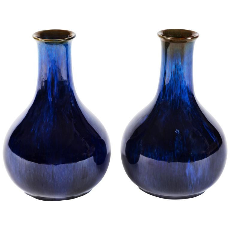 Pair Of Danesby Ware Vases By Bourne Denby Of England At 1stdibs