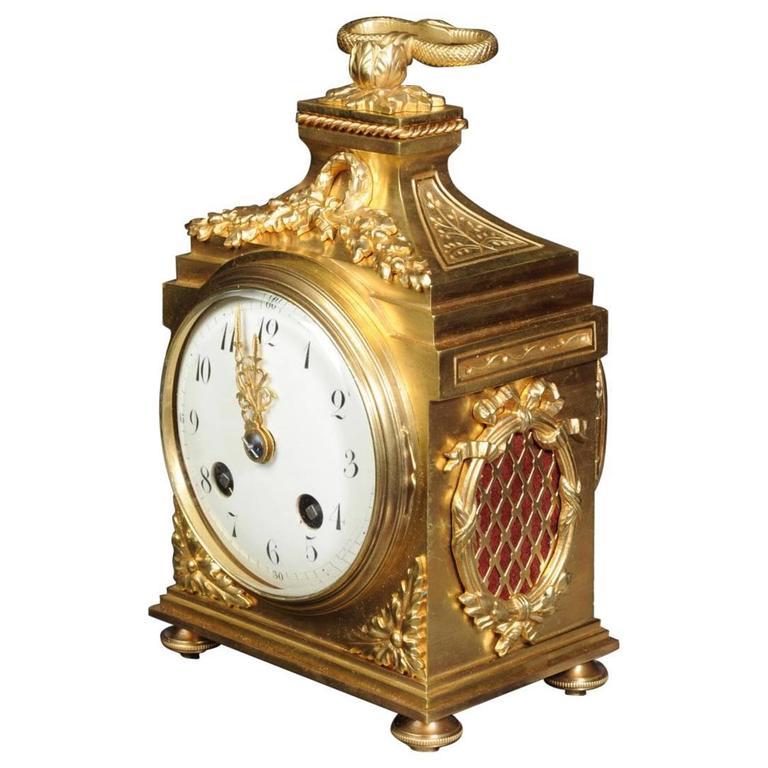 french gilt bronze pendule d 39 officier at 1stdibs. Black Bedroom Furniture Sets. Home Design Ideas