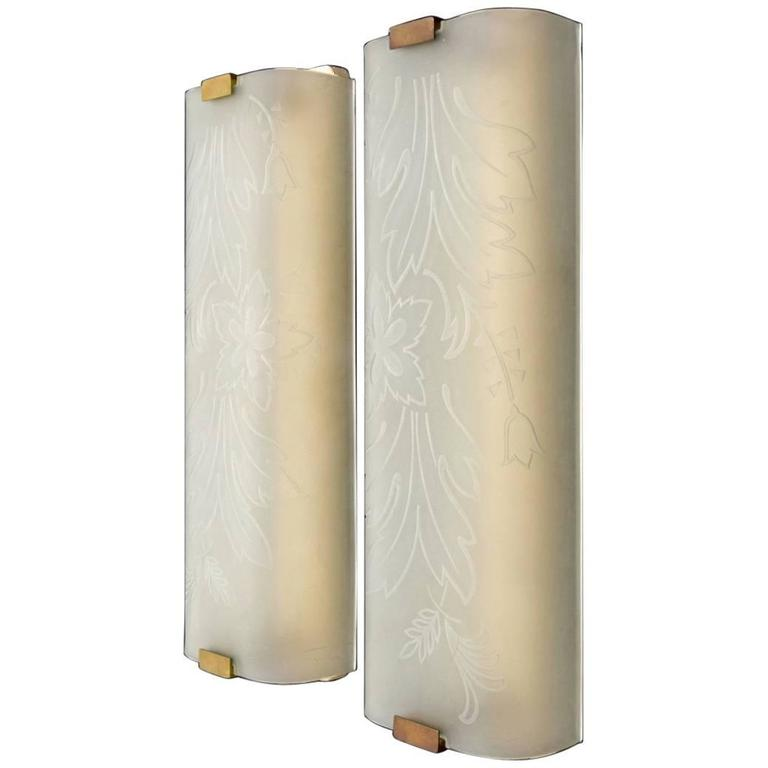 Pair of Large Sconces Attributed to Fontana Arte