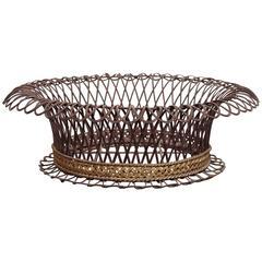 19th Century French Wire Work Basket