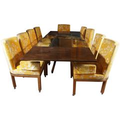 Mid-Century Modern Dining Table and Chairs, 10