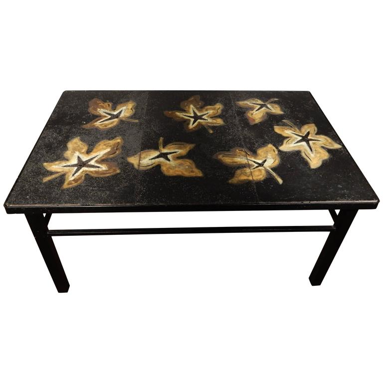 Jacques Adnet Lava Stone Coffee Table At 1stdibs