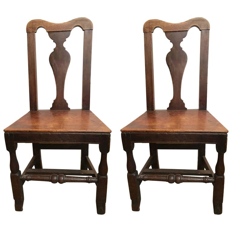 Pair of 18th Century English Side Chairs