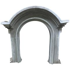 Late 19th Century French Zinc Window Surround