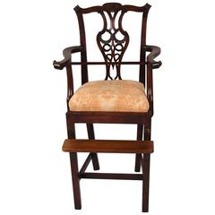 Chippendale Style Mahogany Child's High Chair