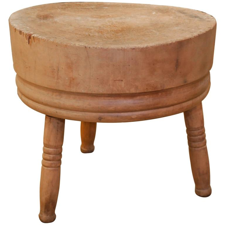 large round butcher block for sale at 1stdibs