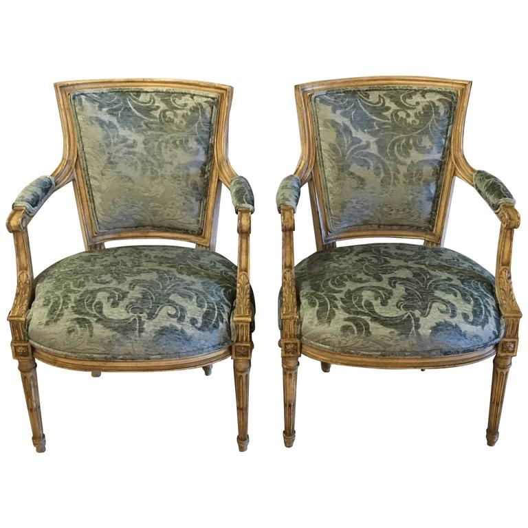 Pair of Jansen Louis XVI Style Chairs