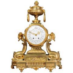 Magnificent Antique French Ormolu Clock, Jules Graux