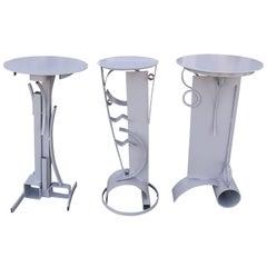 Three Custom Pedestals