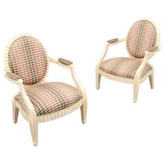 Pair of Late 20th Century Donghia Grand Flute Lounge Chairs