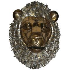 Sergio Bustamante Signed and Dated Original Metal Art Work Lion Head