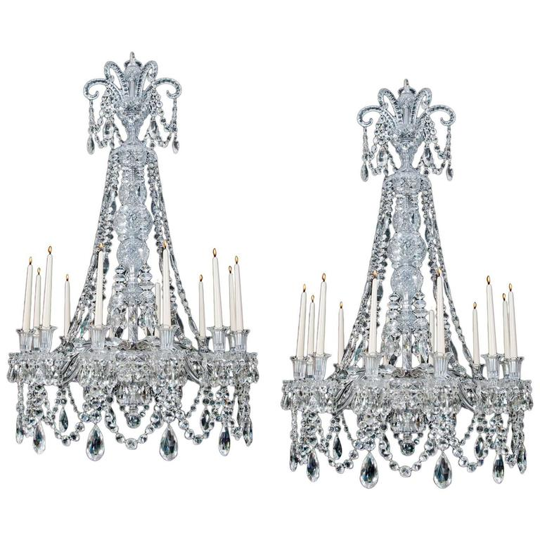 Fine Quality Pair of Mid-Victorian Antique Chandeliers Attributed to F&C Osler