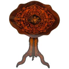 French Napoleon III Period Inlaid Tilt Top Table