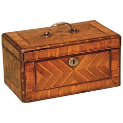 Antique George II Period Walnut Veneered Tea Caddy
