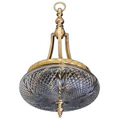 Ormolu-Mounted and Cut-Glass Bowl Light