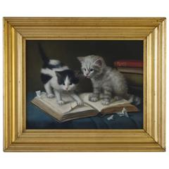 20th Century, Two Cats Playing with a Book, Amanda Lampe