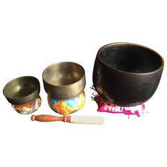 Japanese Zen Temple Bells Group Serene Metaphysical Resonating Sounds Delight