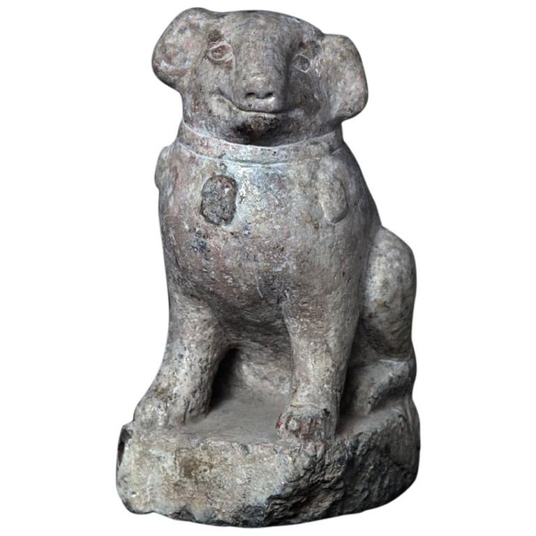 Important Ancient China Hand-Carved Effigy of a Pug Dog, Ming Dynasty 1368-1644 1