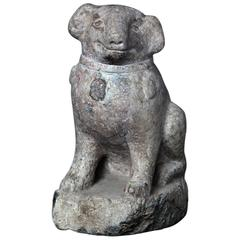 Important Ancient China Hand-Carved Effigy of a Pug Dog, Ming Dynasty 1368-1644