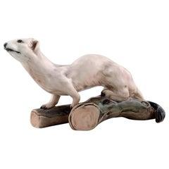 Dahl Jensen number 1121 Ermine or stoat porcelain figurine