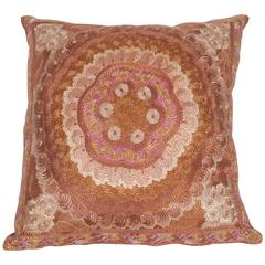 Antique Pillow Made Out of an Hungarian Matyo Embroidery